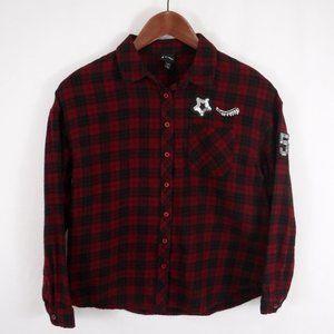Art Class Girls Flannel  Button Down Shirt